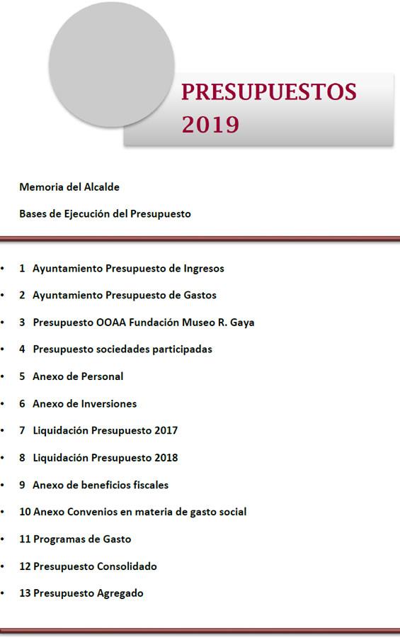 Presupuestos 2019