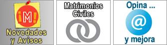 Novedades y avisos, matrimonios civiles y cita previa